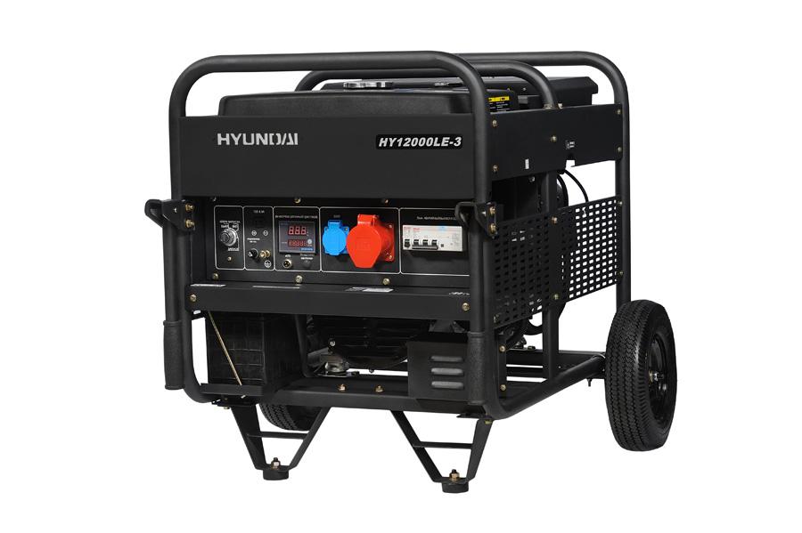 Генератор бензиновый Hyundai HY 12000 LE-3  генератор бензиновый hyundai hy 9000 ser