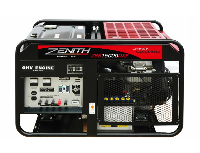 Генератор бензиновый ZENITH  ZBS15000DXE  генератор бензиновый zenith zh7000 3