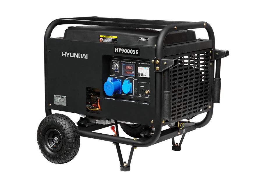 Генератор бензиновый Hyundai HY 9000 SE  генератор бензиновый hyundai hy 9000 ser