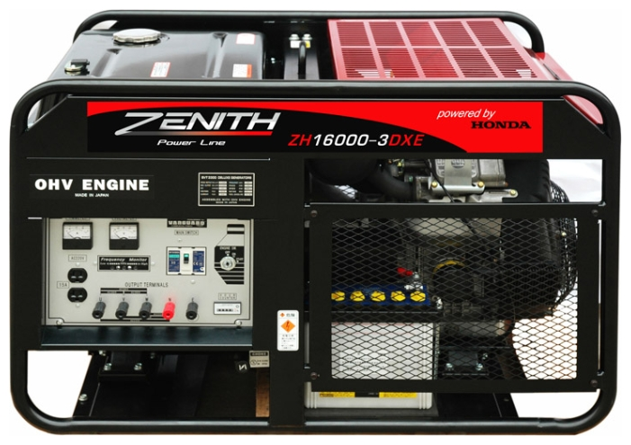 Генератор бензиновый ZENITH ZH16000-3DXE  генератор бензиновый zenith zh7000 3