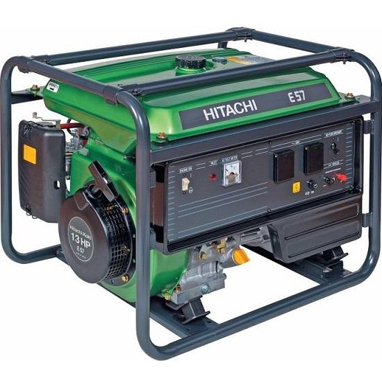 Генератор бензиновый Hitachi E57S  бензиновый генератор hitachi e 57 3p