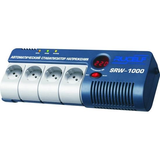 Стабилизатор RUCELF SRW- 1500VA-D rucelf srw 1500 d cтабилизатор напряжения релейный