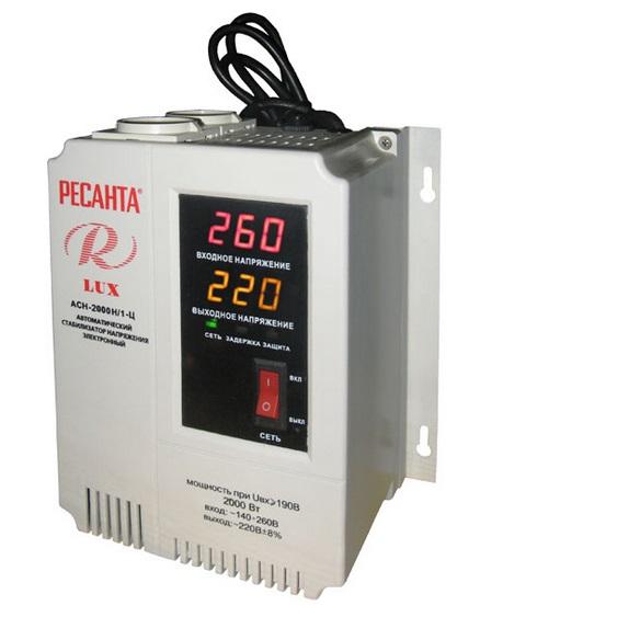 Стабилизатор Ресанта АСН-2000 Н/1-Ц Lux