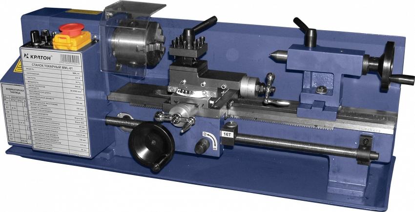Подробнее о Токарный станок по металлу КРАТОН MML-01 токарный станок с электроникой
