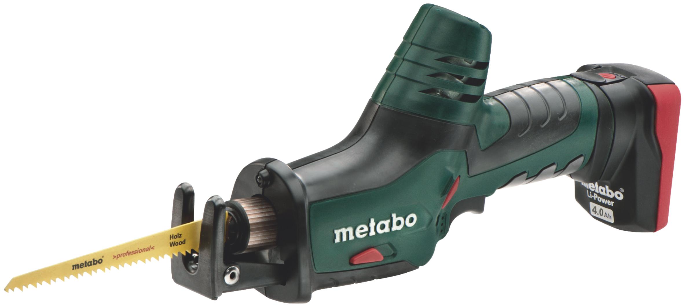 Пила сабельная Metabo PowerMaxx ASE (2х4.0 Ач)  аккумуляторная ножовка metabo powermaxx ase 10 8 602264750