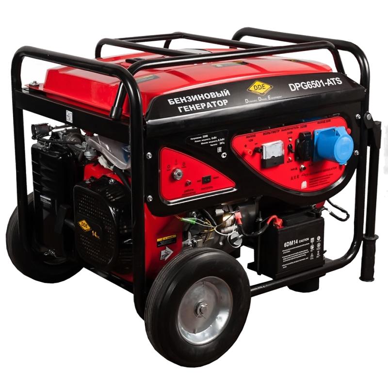 Бензиновый генератор DDE DPG6501E-ATS  бензиновый генератор dde gg2700