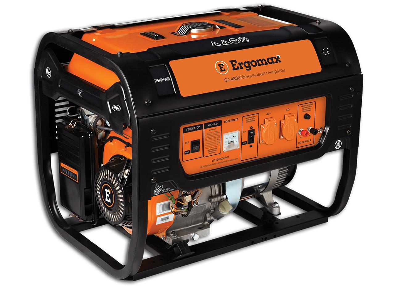 Генератор бензиновый Ergomax GA 8700 E/3  бензиновый генератор ergomax ga 1200 00000092334