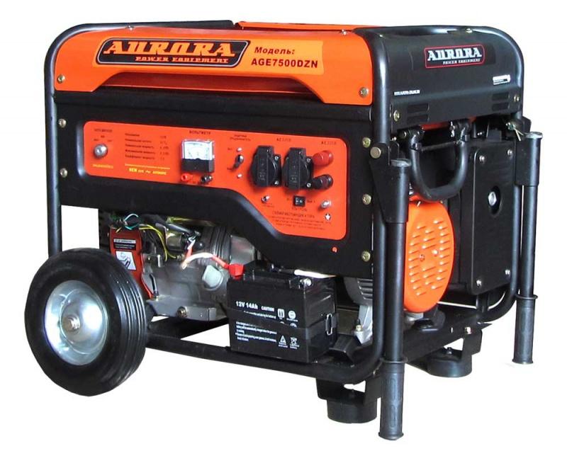 Бензогенератор Aurora AGE 7500 DZN с блоком автоматики