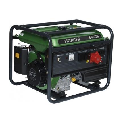 Hitachi E40 (3P) бензиновый генератор  бензиновый генератор hitachi e 57 3p
