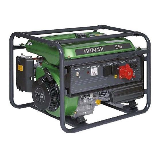 Генератор бензиновый Hitachi E50  генератор бензиновый hitachi e35