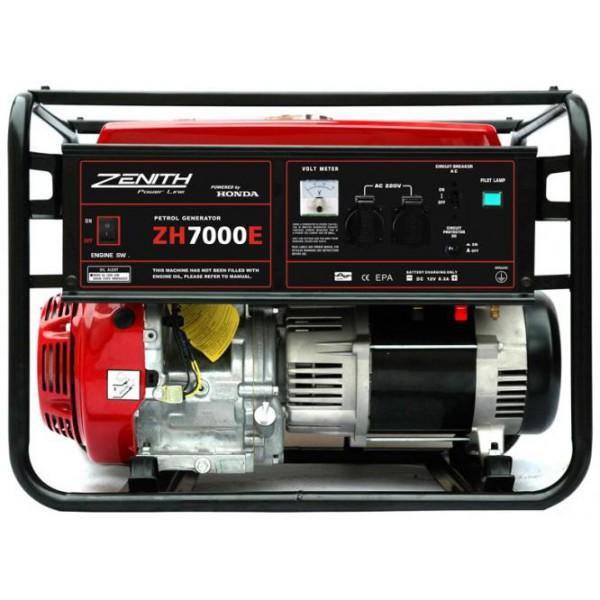 Генератор бензиновый ZENITH ZH7000E  генератор бензиновый zenith zh7000 3