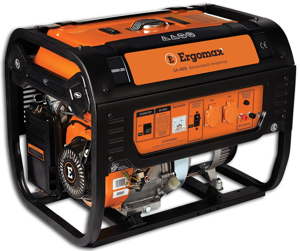Генератор бензиновый Ergomax GA 6700  бензиновый генератор ergomax ga 1200 00000092334