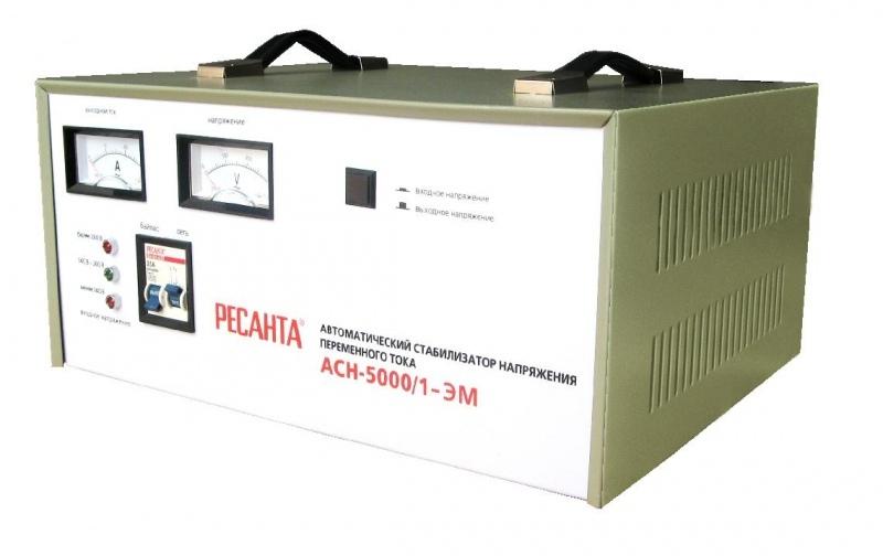 Стабилизатор Ресанта АСН-5000/1-ЭМ набор эм 02 шоколад 7ка021м 1148046