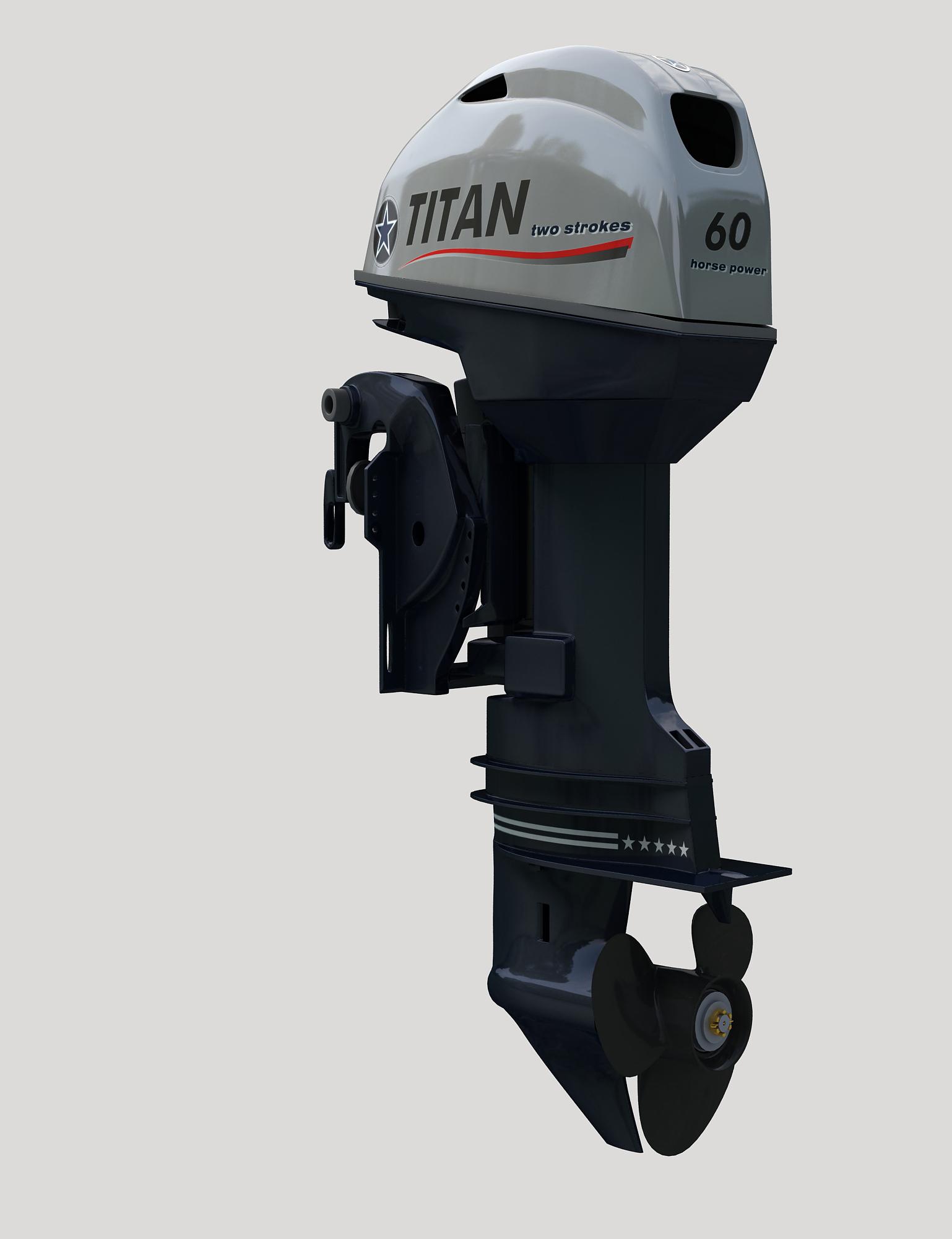 Лодочный мотор 2-х тактный TITAN TP60AERTL подвесной лодочный мотор б у купить в петербурге