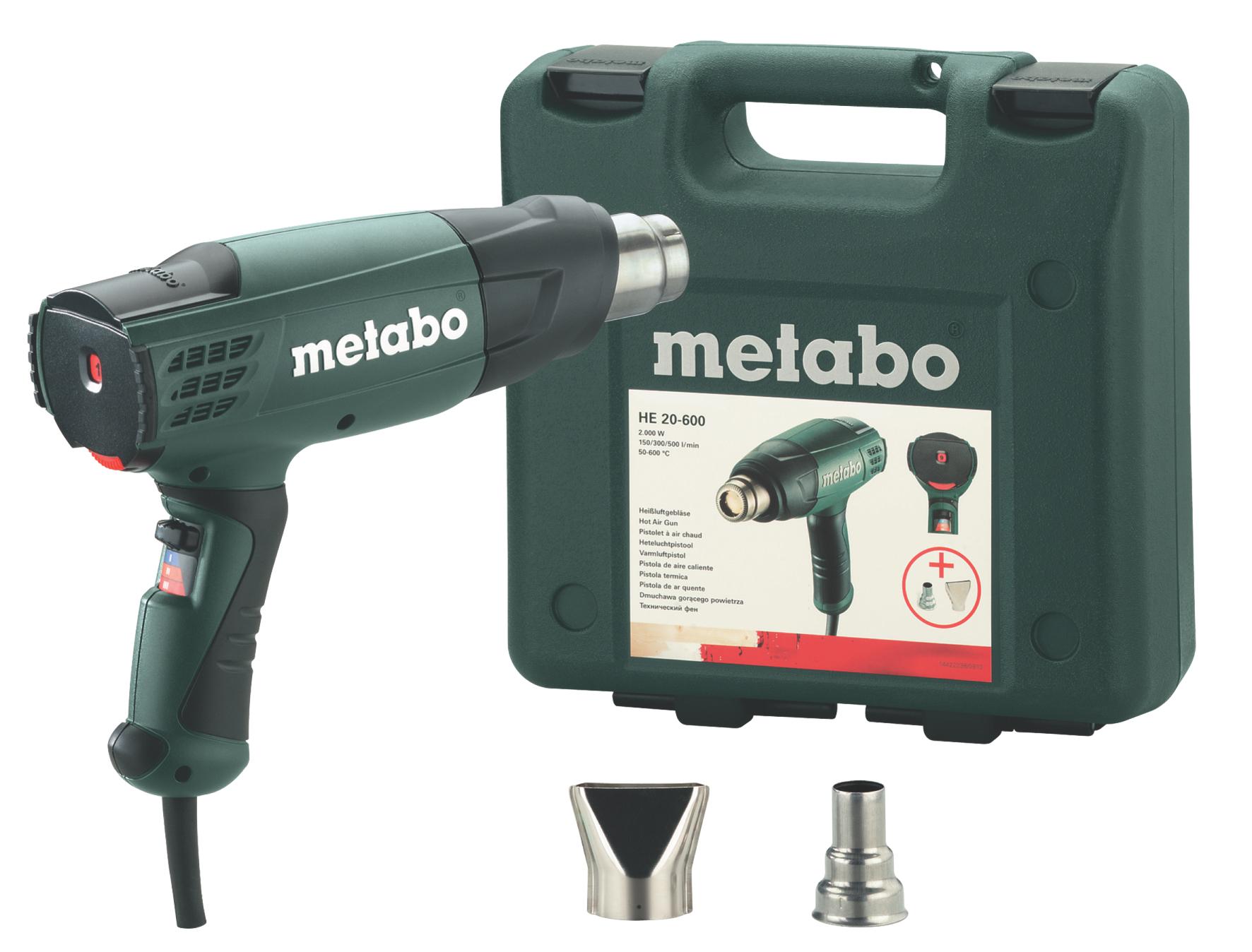 Строительный фен Metabo HE 20-600  строительный фен metabo he 20 600