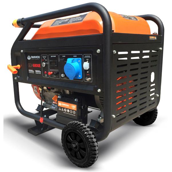 Генератор бензиновый DAEWOO GDA 6800E  генератор бензиновый daewoo gda 6800