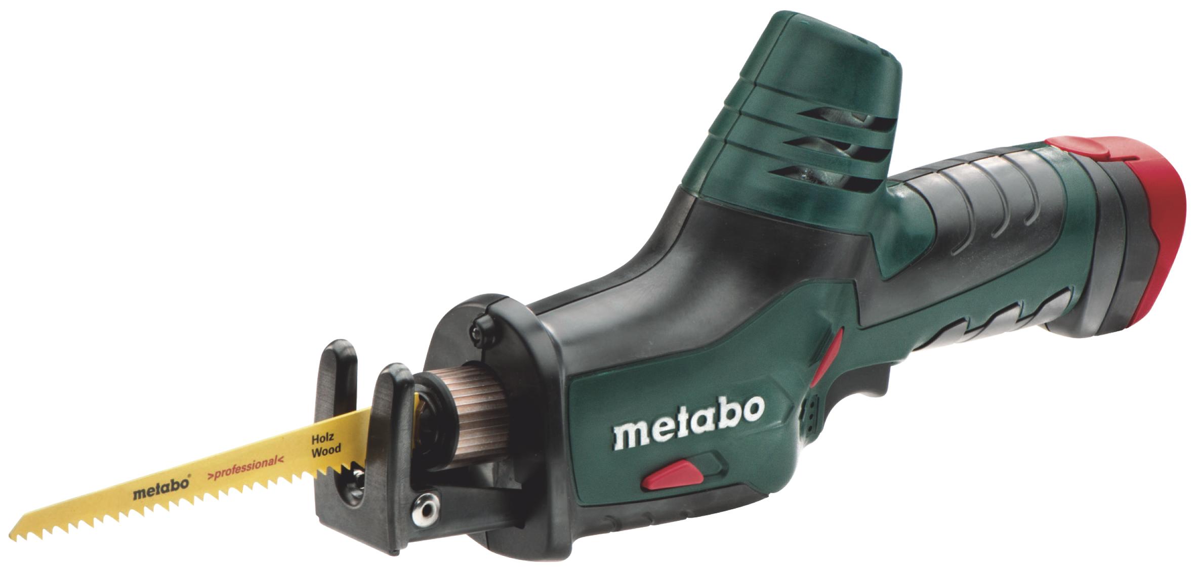 Пила сабельная Metabo PowerMaxx ASE (2х1.5 Ач)  аккумуляторная ножовка metabo powermaxx ase 10 8 602264750