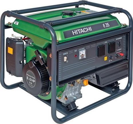 Генератор бензиновый Hitachi E35  генератор бензиновый hitachi e35