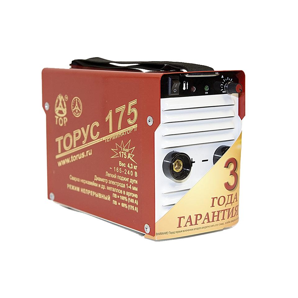 Сварочный инвертор ТОРУС-175 ТЕРМИНАТОР 2+провода