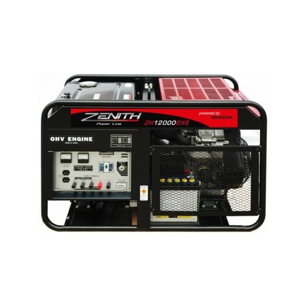 Генератор бензиновый ZENITH  ZH12000DXE  инверторный генератор zenith zy2000i