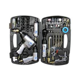 Пневмошлифмашина SUMAKE ST-62 K  набор 5 пневмоинструментов 60 аксессуаров sumake st 62 k 7318
