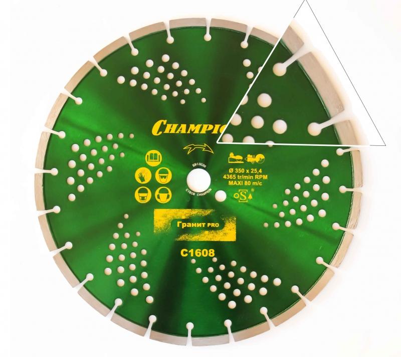 Диск алмазный CHAMPION гранит PRO 400/25,4/10 Laser Granite  диск алмазный champion бетон st 400 25 4 10 concremax