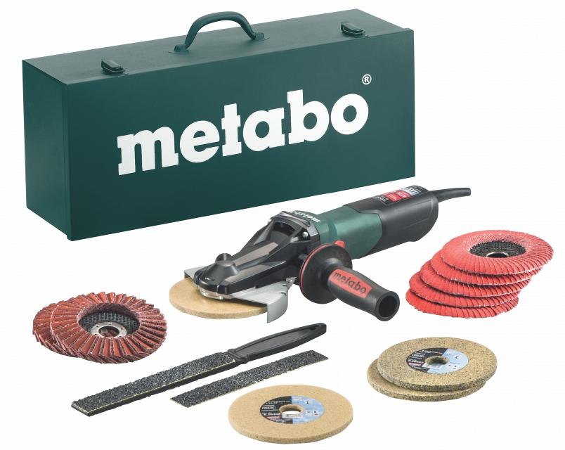 Угловая шлифмашина Metabo WEVF10-125QuickInox SET  угловая шлифмашина metabo w 12 150 quick