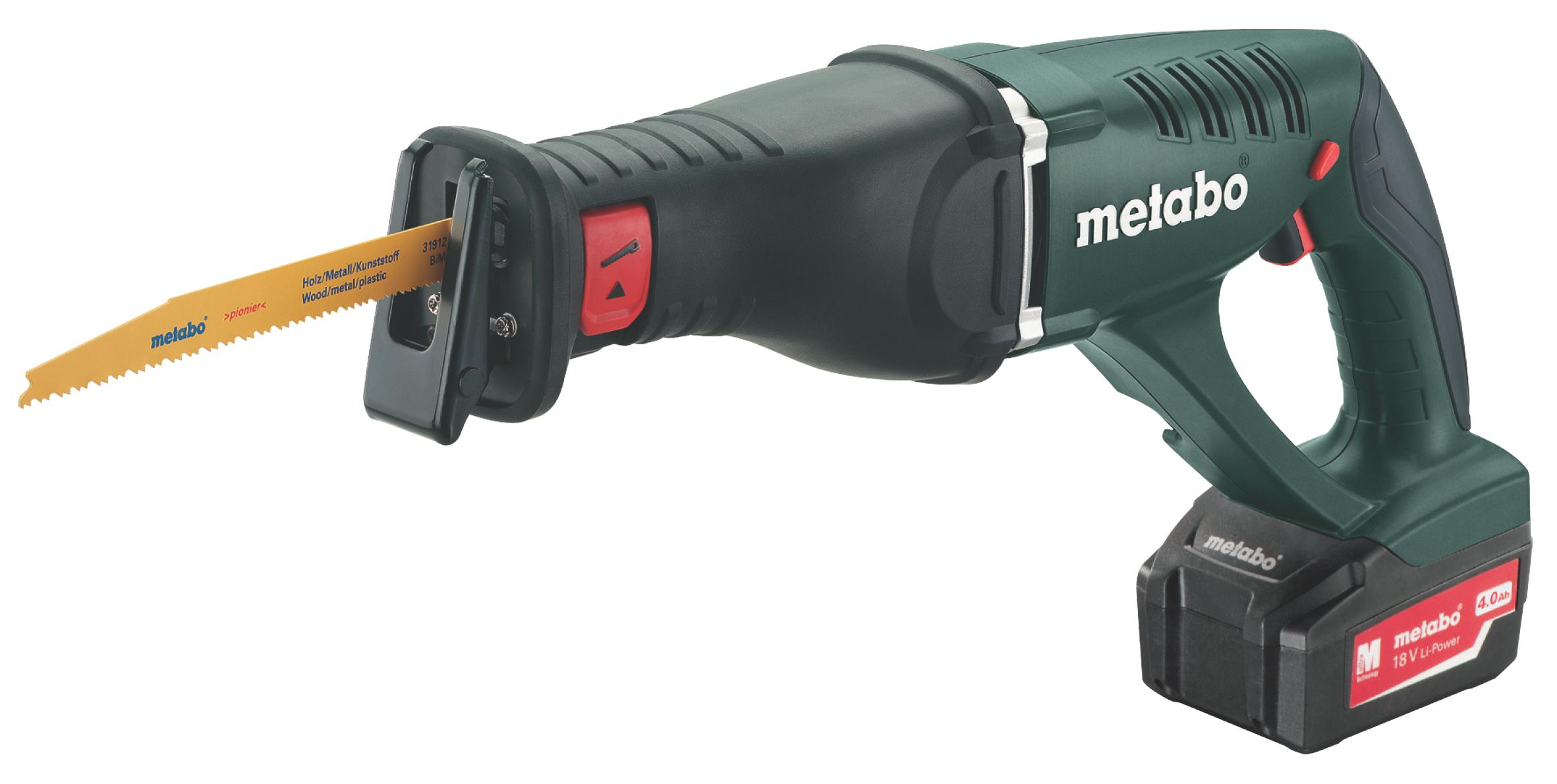 Пила сабельная Metabo ASE 18 LTX  аккумуляторная ножовка metabo ase 18 ltx 602269610