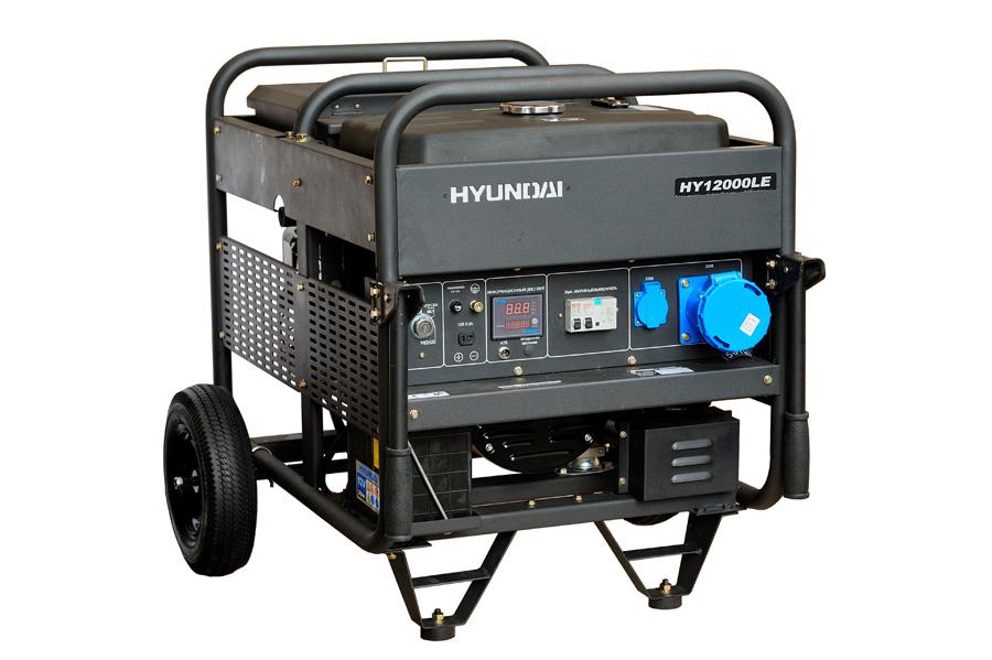Генератор бензиновый Hyundai HY 12000 LE  генератор бензиновый hyundai hy 9000 ser