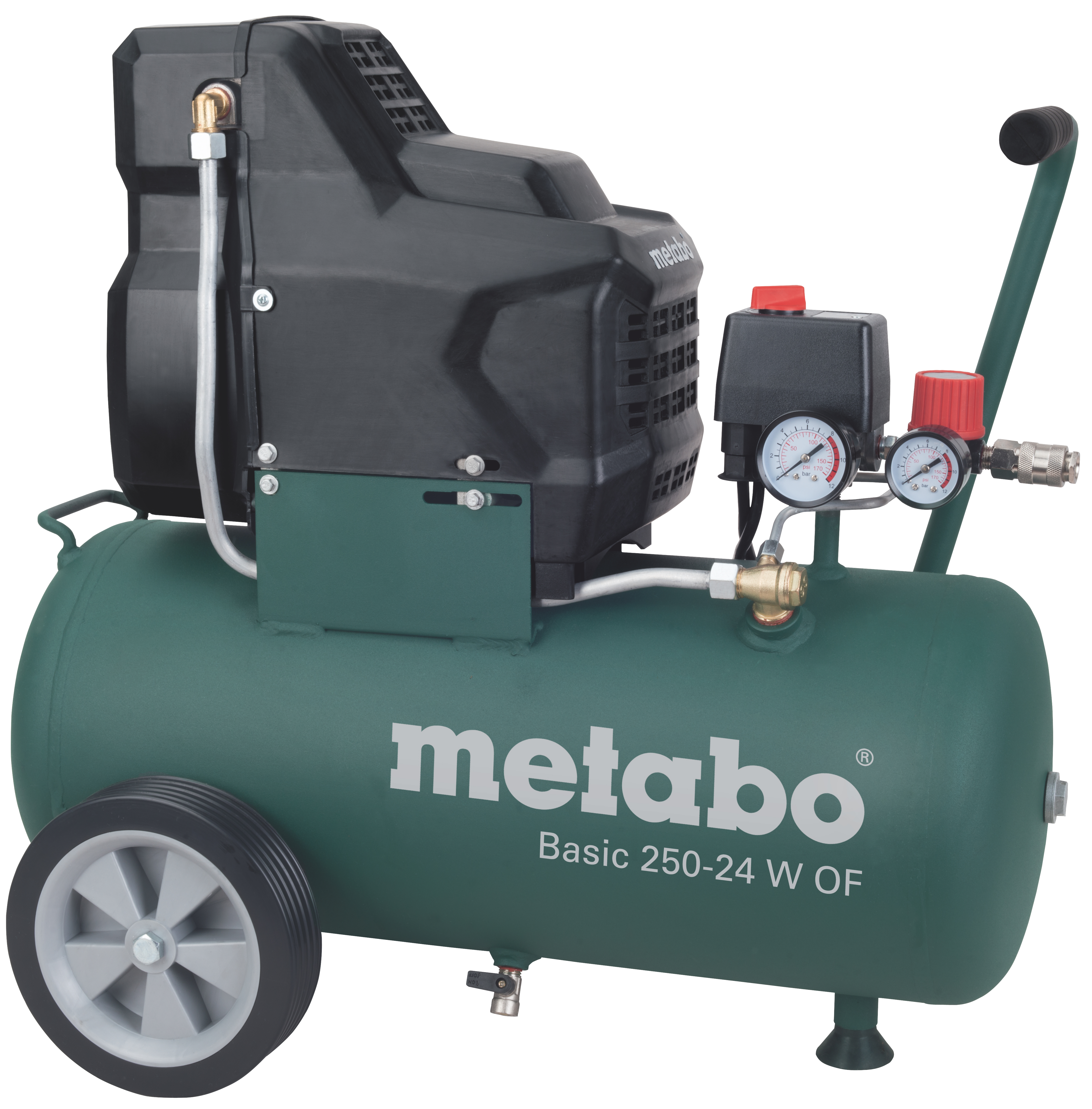 Компрессор поршневой Metabo Basic 250-24 W OF  масляный компрессор metabo basic250 24w 601533000