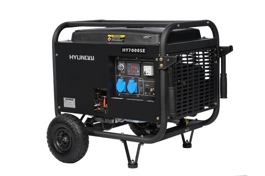 Генератор бензиновый Hyundai HY 7000 SE  генератор бензиновый hyundai hy 9000 ser