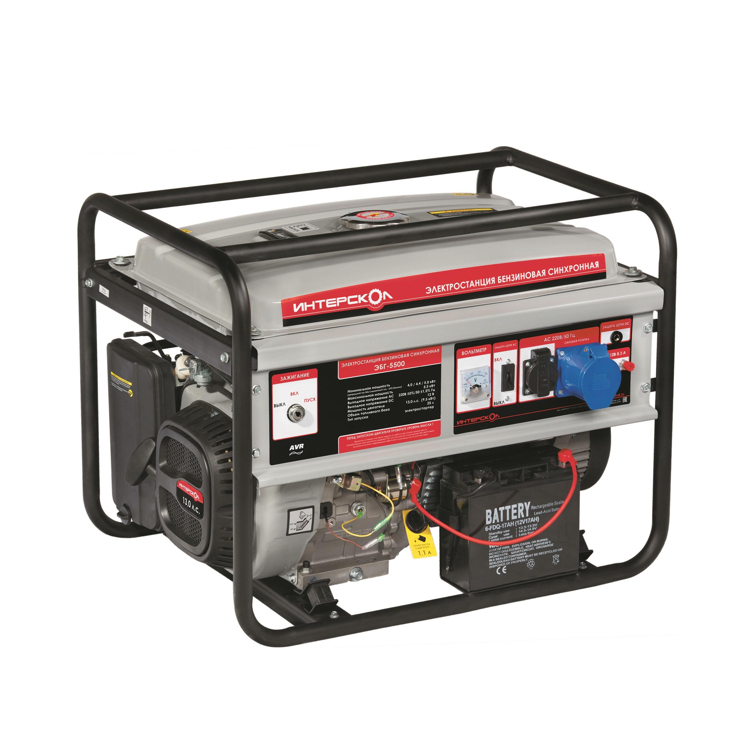 Генератор бензиновый Интерскол ЭБГ-5500