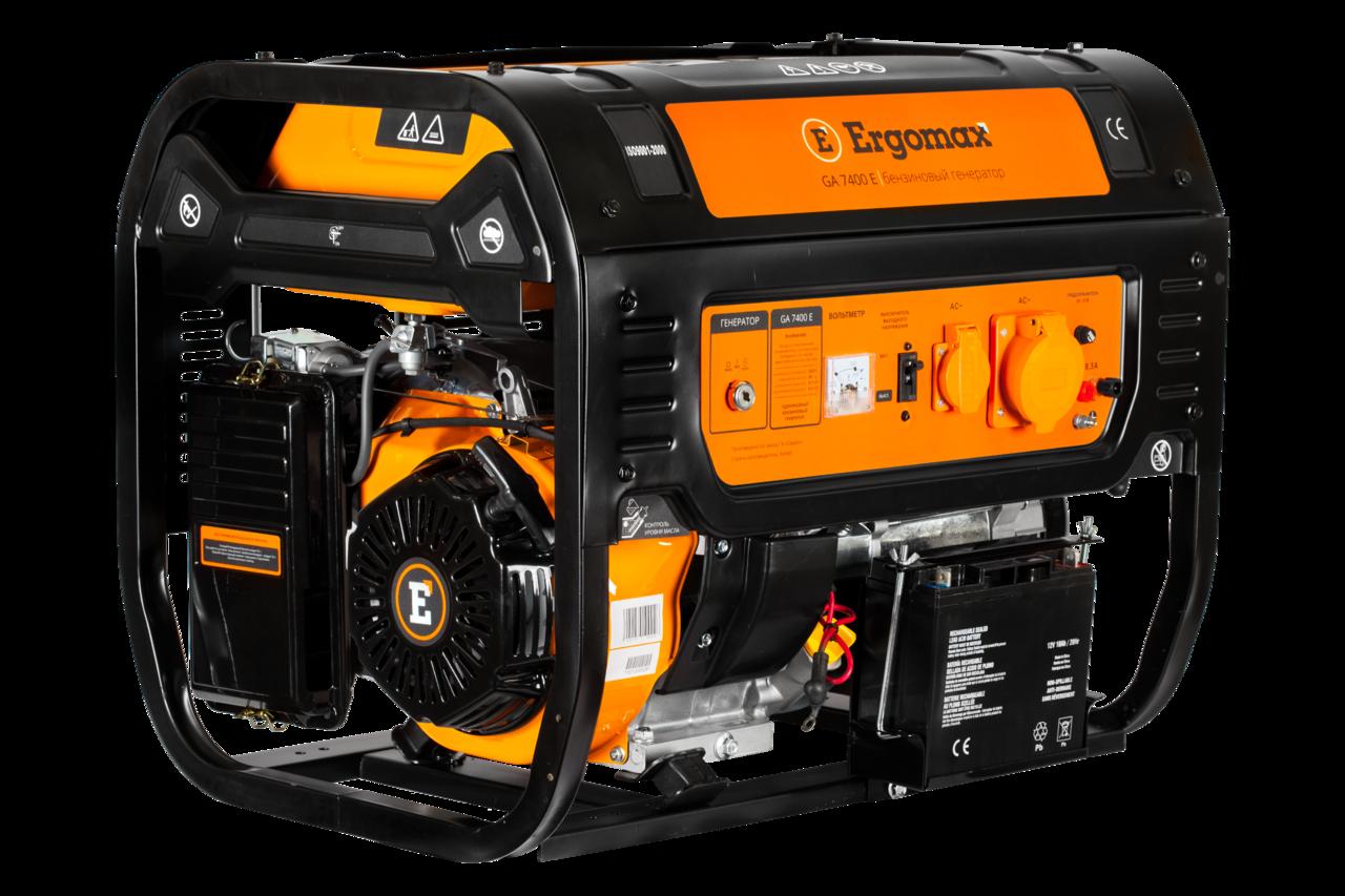 Генератор бензиновый Ergomax GA 7400 Е  бензиновый генератор ergomax ga 1200 00000092334