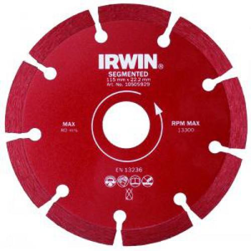Диск IRWIN LASER 180m / 22,2 (сухая резка)  диск алмазный сплошной irwin continious мокрая резка 150 25 4 22 2 мм