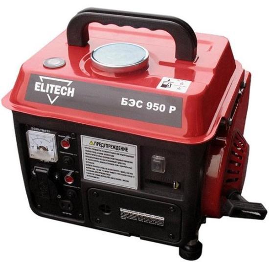 Генератор бензиновый Elitech БЭС 950 Р  бензиновый генератор elitech бэс 950 р