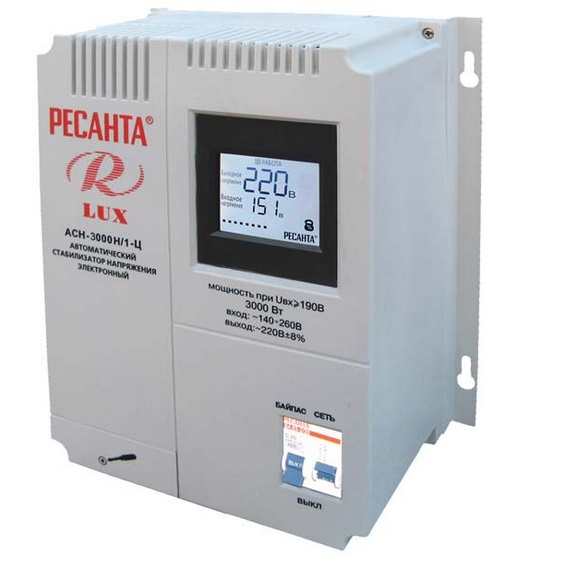 Стабилизатор Ресанта АСН-3000Н/1-Ц Lux
