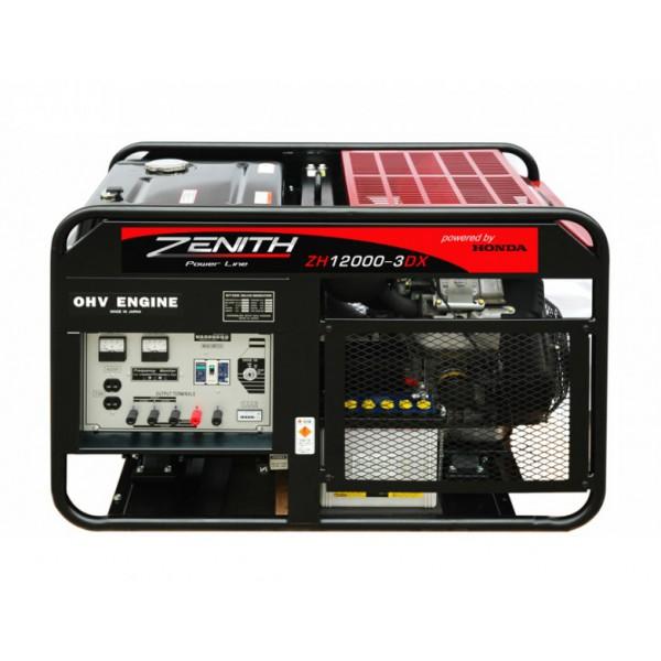 Генератор бензиновый ZENITH ZH12000-3DXE  генератор бензиновый zenith zh7000 3