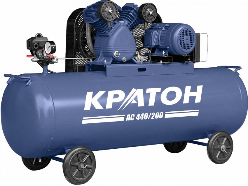 Поршневой компрессор КРАТОН AC-440/200  поршневой компрессор кратон ac 440 100 bdv