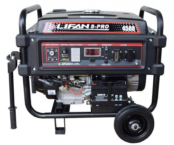 Бензиновый генератор Lifan S-Pro SP 4500  бензиновый генератор автомат lifan 5gf 5a