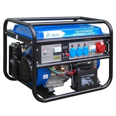Генератор бензиновый трехфазный TSS SGG 5600E3  бензиновый отбойный молоток тсс tss gjh95 207000