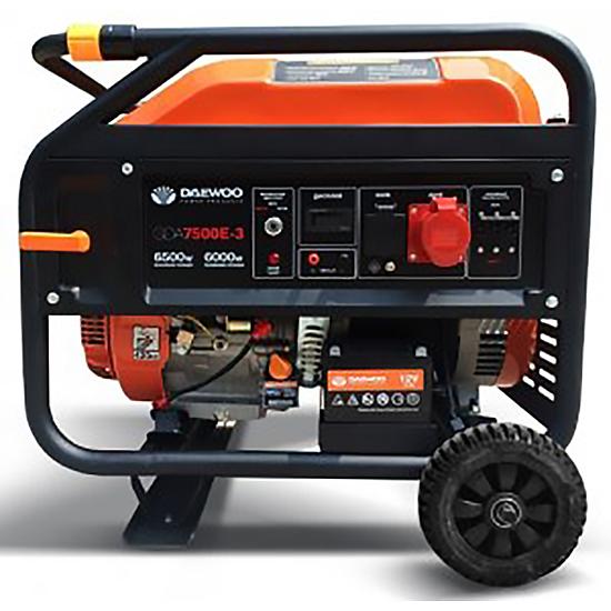 Генератор бензиновый DAEWOO GDA 7800E-3  бензиновый генератор daewoo gda 7500e 3