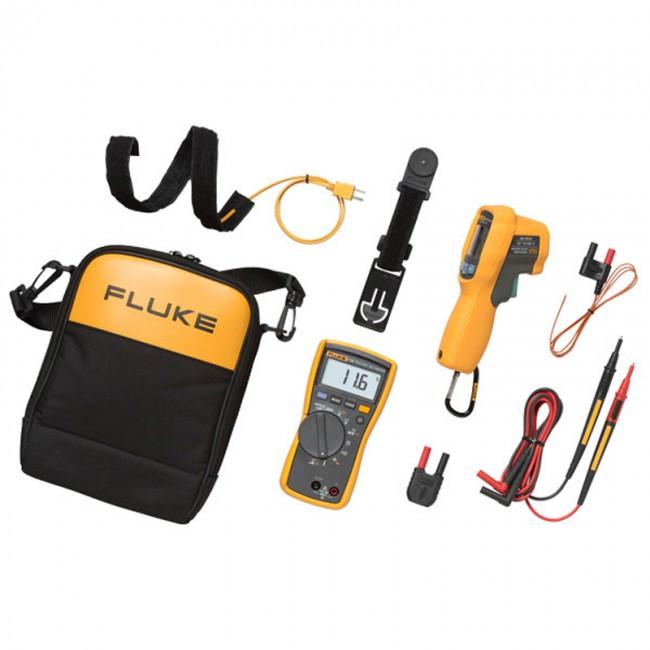 Комплект цифровой мультиметр+пирометр FLUKE-116/62 MAX+  цифровой мультиметр fluke 15b