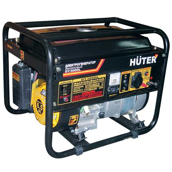 Генератор бензиновый Huter DY3000L дом или коттедж в ниж обл