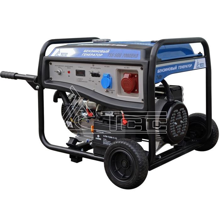 Генератор бензиновый трехфазный TSS SGG 7000EH3  бензиновый отбойный молоток тсс tss gjh95 207000
