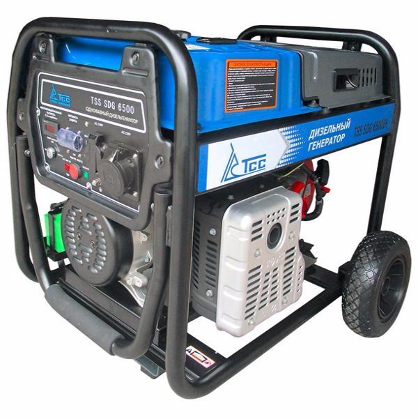 Дизельный генератор ТСС SDG 6500EН  дизельный генератор трехфазный тсс sdg 5000eн3