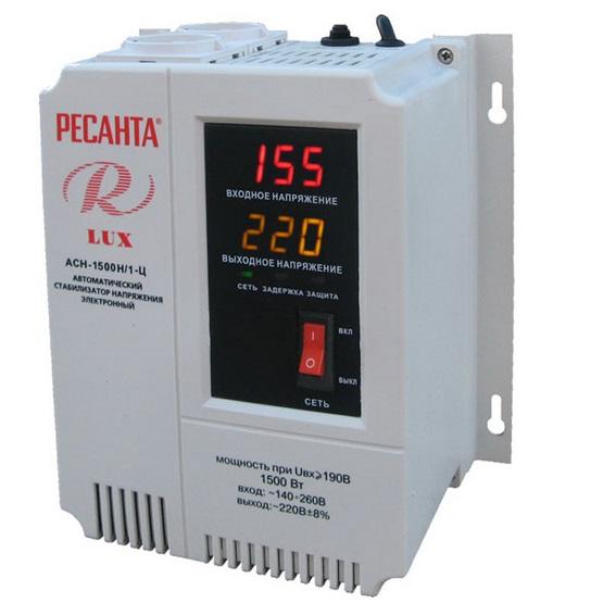 Стабилизатор Ресанта АСН-1500Н/1-Ц Lux стабилизатор напряжения ресанта асн 1500 н 1 ц lux