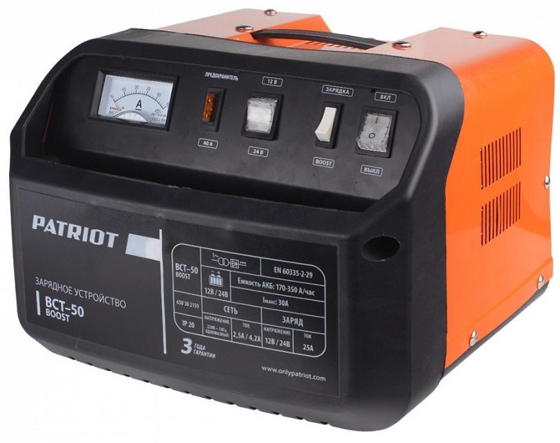 Зарядное устройство PATRIOT BCT-50 Boost  пускозарядное устройство patriot bct 350 start