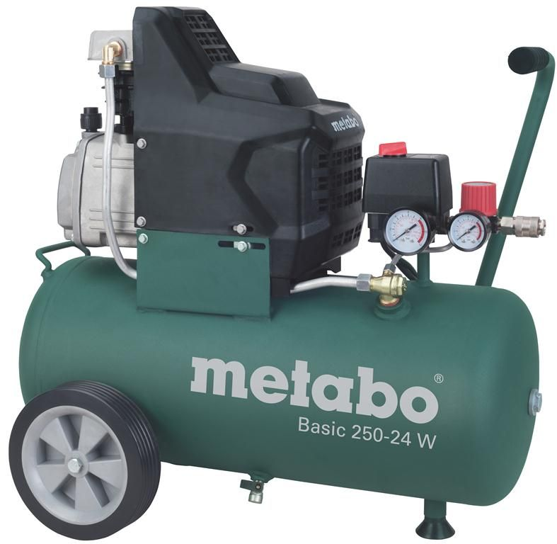 Компрессор поршневой Metabo Basic 250-24 W  масляный компрессор metabo basic250 24w 601533000