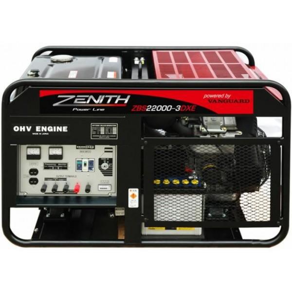 Генератор бензиновый ZENITH ZBS22000-3DXE  генератор бензиновый zenith zh7000 3
