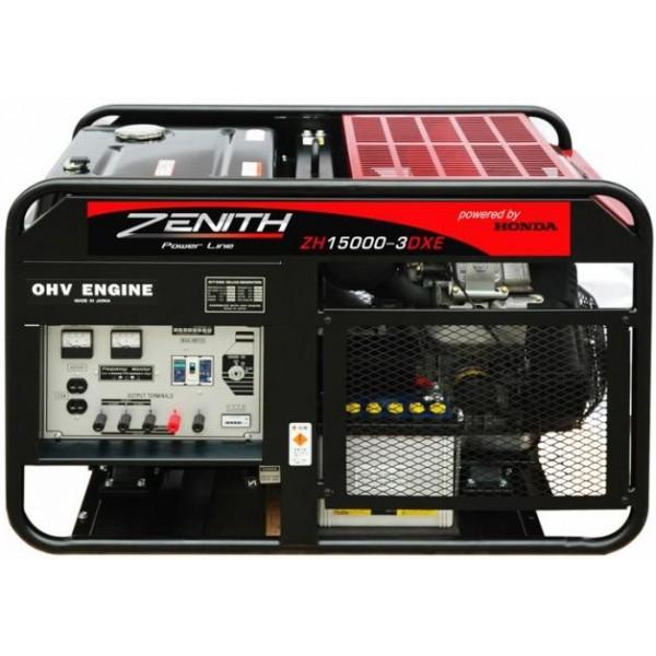 Генератор бензиновый ZENITH ZH15000-3DXE  генератор бензиновый zenith zh7000 3